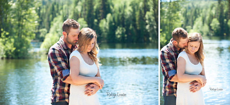 Samantha and Sean - Likely Engagement Photography at Quesnel Forks with their dogs.
